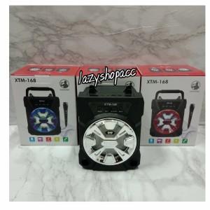 Harga speaker bluetooth xtm 168 free mic speaker karaoke     HARGALOKA.COM