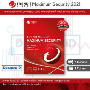 Harga trend micro maximum security 2021 3 devices 1 year   1 pc 1 | HARGALOKA.COM
