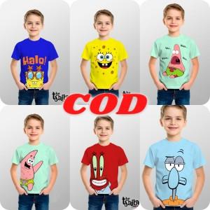 Harga kaos anak laki laki bahan katun combed 30s   squidward | HARGALOKA.COM
