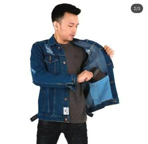 Harga jaket jeans sobek ripped pria     HARGALOKA.COM