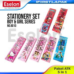 Harga paket alat tulis 5 in 1 stationery set karakter spiderman pensil pengh   | HARGALOKA.COM