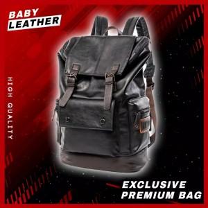 Harga tas ransel kulit import punggung backpack bahan 100 kulit sintetis   | HARGALOKA.COM