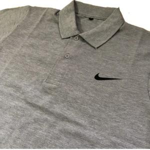 Harga kaos polo baju kerah pria wanita n01 baju olahraga warna abu misty   | HARGALOKA.COM