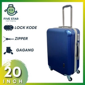 Harga koper fiber 20 inch robert ansell model 2018 warna biru   HARGALOKA.COM