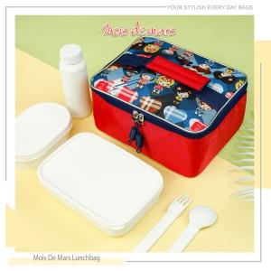 Harga lunch bag mois de mars dengan aluminum foil inner liner zoo style   girl | HARGALOKA.COM