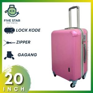 Harga koper fiber 20 inch robert ansell model 2018 warna pink   HARGALOKA.COM