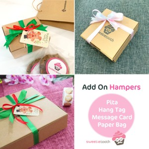 Harga add on pita kartu gift hampers sweetietooth   tambahan   birthday | HARGALOKA.COM