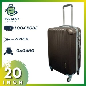 Harga koper fiber 20 inch robert ansell model 2018 warna   HARGALOKA.COM