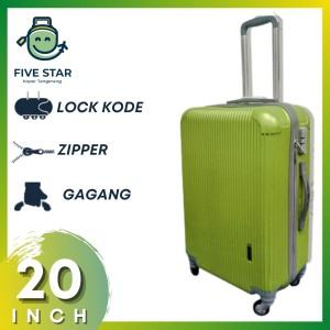 Harga koper fiber 20 inch robert ansell model 2018 warna hijau   HARGALOKA.COM