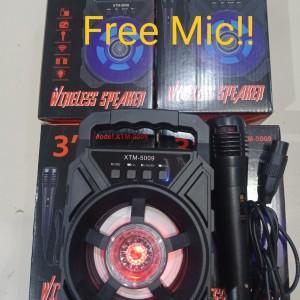 Harga speaker bluetooth xtm 5009 free mix karaoke musik | HARGALOKA.COM