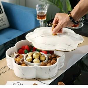 Harga toples keramik kue kering cemilan tamu hari raya imlek lebaran natal   | HARGALOKA.COM
