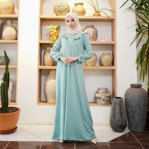 Harga mybamus camilla double wrinkle dress jade green m15873 | HARGALOKA.COM