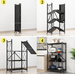 Harga rak dapur lipat 5 layer tanpa instalasi kitchen rack multi layer     HARGALOKA.COM