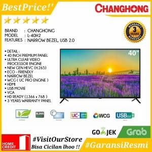 Harga led tv 40 inch changhong 40h2 l40h2 narrow bezel hd tv usb 2 0 | HARGALOKA.COM