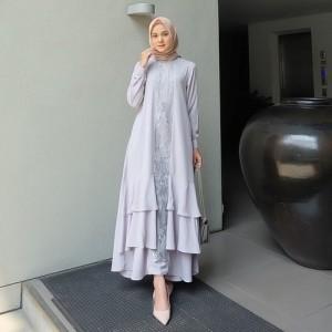 Harga busanah syari wanita terbaru gamis baju muslimah dress rnaxi | HARGALOKA.COM
