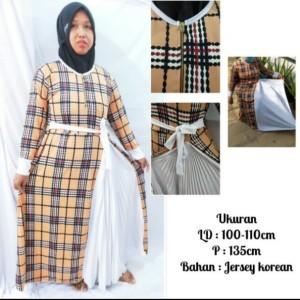Harga gamis plisket jumbo pakaian syar 39 i atasan wanita muslimah   gamis | HARGALOKA.COM