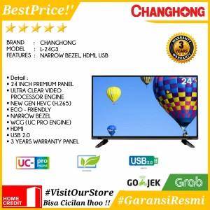 Harga led tv 24 inch changhong 24g3 l24g3 narrow bezel hd tv usb 2 0 | HARGALOKA.COM