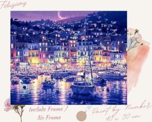 Harga paint by number pemandangan kota malam hari   no | HARGALOKA.COM
