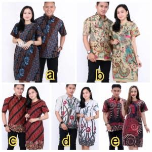Harga baju couple batik seragaman batik pria dan wanita   m kemeja | HARGALOKA.COM