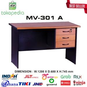 Harga meja kantor meja belajar 1 biro laci mv 301a | HARGALOKA.COM