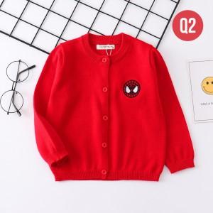Harga q2 cardigan anak laki laki perempuan sweater outerwear motif superhero     HARGALOKA.COM