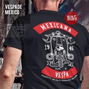 Harga kaos baju mexico vespa enrico piaggio scooter pria distro   | HARGALOKA.COM