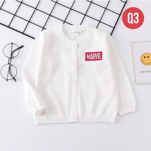 Harga q3 cardigan anak laki laki perempuan sweater outerwear motif superhero     HARGALOKA.COM