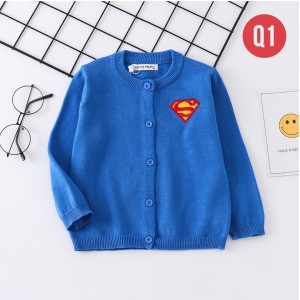 Harga q1 cardigan anak laki laki perempuan sweater outerwear motif superhero     HARGALOKA.COM