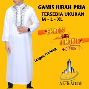 Harga jubah arab saudi gamis cowok pria bordir putih hitam   motif bdr warna | HARGALOKA.COM