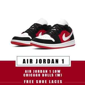 Harga sepatu air jordan 1 low chicago bulls gym red black w original   40 | HARGALOKA.COM