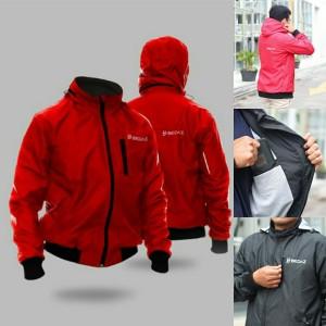 Harga jaket motor pria jaket rider jaket pengendara windproof bjo falco   merah | HARGALOKA.COM