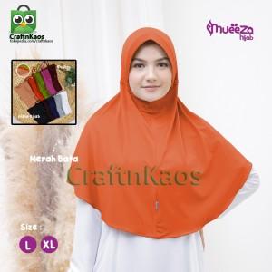 Harga kerudung jilbab dewasa syar 39 i size xl model alsha mueeza hijab   merah   HARGALOKA.COM