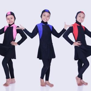Harga baju renang anak perempuan muslim 2 10 thn   pink xl | HARGALOKA.COM