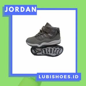 Harga sepatu sneakers anak laki laki 3 tahun import nike jordan 11 grey high   | HARGALOKA.COM