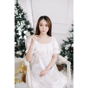 Harga elavoz adelle short dress   putih all | HARGALOKA.COM