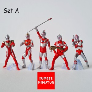 Harga set action figure pajangan ultraman king ultraman geed zero 5 pcs   motif set   HARGALOKA.COM