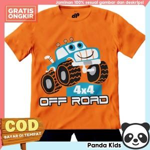 Harga setelan baju anak lengan pendek motif mobil off road 1 10 tahun   pk   1 2 | HARGALOKA.COM