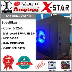 Harga komputer rakitan i3 3240 ddr3 8gb hd 500gb b75 psu 500w b01 | HARGALOKA.COM