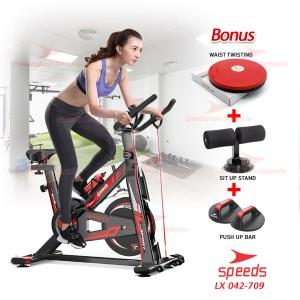 Harga spinning bike sepeda statis olahraga alat fitness speeds set | HARGALOKA.COM