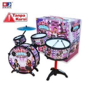 Harga image toys mainan drum set 34 l 34 6 pcs   hitam | HARGALOKA.COM