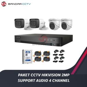 Harga paket cctv hikvision 2mp support audio 4 | HARGALOKA.COM