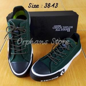 Harga sepatu converse petir premium sepatu allstar murah berkualitas   hijau putih | HARGALOKA.COM