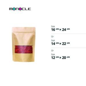 Harga kemasan makanan snack kraft window zipper   12 x 20 | HARGALOKA.COM