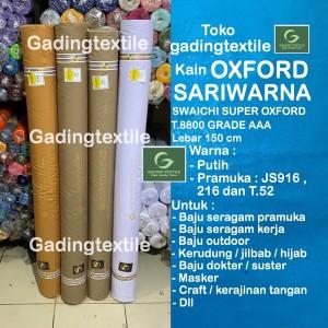 Harga kain oxford sari warna sariwarna lb 150 per roll seragam putih pramuka   putih 1 roll 54 | HARGALOKA.COM