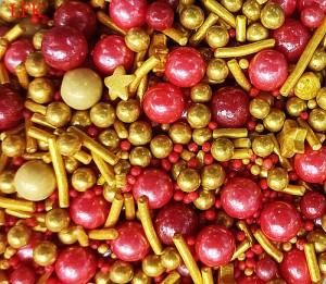 Harga sprinkle merah emas red gold golden mutiara dekorasi hiasan kue imlek   | HARGALOKA.COM