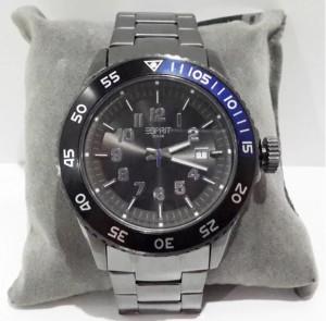 Harga esprit mens watch quartz chronograph stainless steel black | HARGALOKA.COM