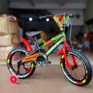 Harga sepeda anak bmx 12 inch amp 16 inch oversized ban pompa 3 0 marsbike sni   merah | HARGALOKA.COM