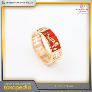 Harga cincin emas it collections model cat merah rosegold size 14 | HARGALOKA.COM