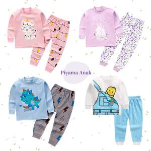 Harga setelan baju tidur piyama anak import bahan katun organik premium   charming kitty 90 2 3 thn   HARGALOKA.COM