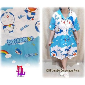 Harga jumbo size ld 120cm daster piyama baju tidur katun doraemon | HARGALOKA.COM